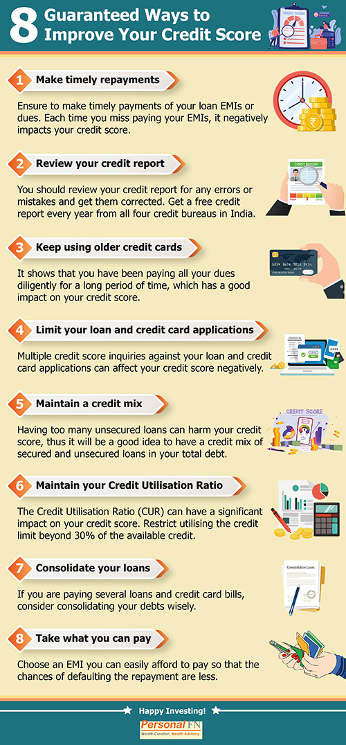 8 Guaranteed Ways to Improve Your Credit Score