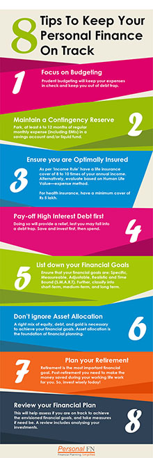 8 Tips To Keep Your Personal Finance On Track