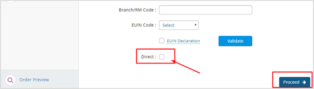 Choose Direct and click Proceed