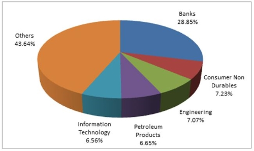 Graph 4:Top portfolio holdings in DSP Equity Opportunities Fund