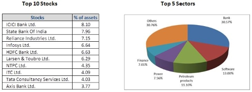 HDFC Top 100 Fund - Top Portfolio Holdings