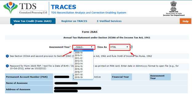 How to view and read Form 26AS